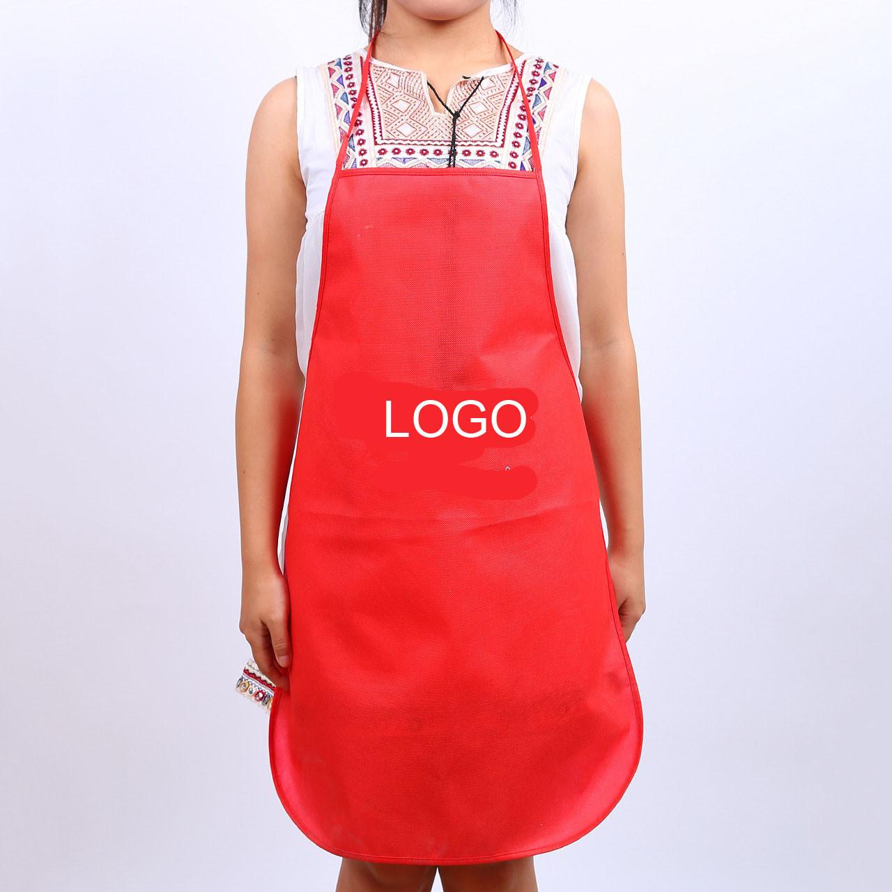 Buy cheap Non-woven fabric apron waterproof anti-pollution advertising apron 45*65cm logo customized from wholesalers