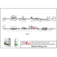 Buy cheap Liquid Bottle Filling Line With Bottle Capping Machine And Double Side Labeling Machine from wholesalers
