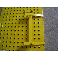Buy cheap Yellow Scaffolding Ladder Steel Trap Door / Ladder Access Hatch Door For Construction from wholesalers