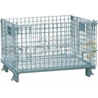 Buy cheap Foldable Galvanized Wire Container Storage Cages , Mobile Storage Cages With Side from wholesalers