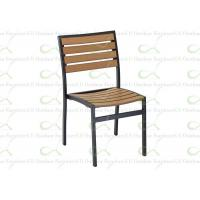 Buy cheap Outdoor Dining Chairs Armless Chair Tan Color Polywood Chair Faux Teakwood from wholesalers