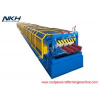 Buy cheap Blue Floor Tiles Manufacturing Machines Roll Forming Line For Bridge Deck Panel from wholesalers