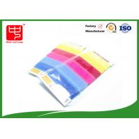 Buy cheap Hook and Loop Cable Tie Custom With Supermarket Package , Reusable cable ties Candy Color from wholesalers