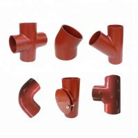 Buy cheap EN877 Standard Red Coated Cast Iron Pipe Fittings from wholesalers