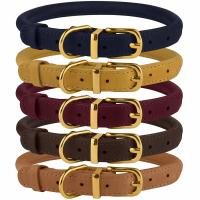 Buy cheap Handmade Leather Rolled Rope Dog Collars For Small Medium Large Dogs Puppy Cat from wholesalers