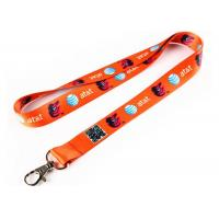 Buy cheap Orange Silicone Key Chain With Safety Buckle For Badge Holder Lanyard from wholesalers