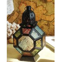 Buy cheap Best selling Luxury metal candle holder with glass for home decoration from wholesalers