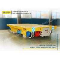 Buy cheap 50 T Cable Heavy Industrial Transfer Trolley Solid Electric Bogie For Workshop from wholesalers