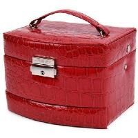 Buy cheap automatic three-tier jewelry storage box / jewelry box / cosmetic case red product