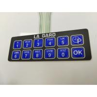 Buy cheap Customize Thin Film Membrane Switch Keyboard Twelve Key With 3M Adhesive from wholesalers