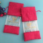 Buy cheap Hair Packing Drawstring Pvc Window Custom Printed Jute Bags from wholesalers