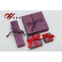 Buy cheap Purple Special Paper Gift Box With Bowknot , Jewelry Gift Boxes For Necklaces from wholesalers