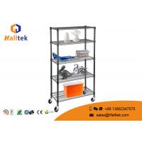 Buy cheap Movable Adjustable Wire Storage Shelve Powder Coating 6 Tier Heavy Duty from wholesalers