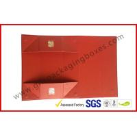 Buy cheap Foldable Magnetic Rigid Gift Boxes / Foil Wine Paper Gift Box from wholesalers