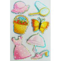 Buy cheap Colorful Refrigerator Custom Hologram Stickers Bright PVC PET Material from wholesalers