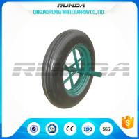 Buy cheap Line Pattern Solid Rubber Wheelbarrow Wheels14 Inch Hollow Axle Powder Coated Rim from wholesalers