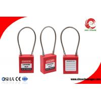 Buy cheap Lockout Tagout Safety Cable Lock , steel Cable Wire Lock 3mm Stainless Steel Cable Shackle from wholesalers