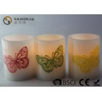 Buy cheap Decoration Real Wax Electronic Candles with butterfly pattern , Carved Candles product