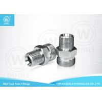 Buy cheap Steel High Pressure Hydraulic Bite Type Tube Fitting BSPT Male Stud Connector from wholesalers