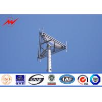 Buy cheap hot dipped galvanized 33kv 30m steel monopole tower in accordance with ASTM A123 Galvanization standard from wholesalers