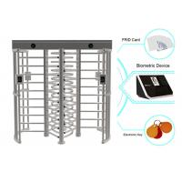 Buy cheap Card Or Biometric RFID Full Height Turnstiles Electrical Barrier With 0.6S Response Time from wholesalers