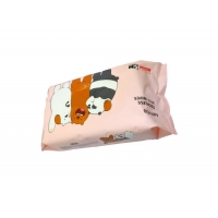 Buy cheap Odorless Mild Non Alcoholic Baby Wipes 80PCS Flowpack With Sticker from wholesalers