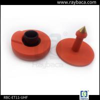 Buy cheap Lightweight Cattle Tracking Ear Tags , Cattle Management Tags 860-960Mhz Frequency from wholesalers