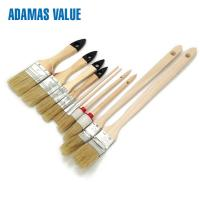 Buy cheap Round Natural real bristle paint brushes  Wooden Handle Real Hair Paint Brushes from wholesalers