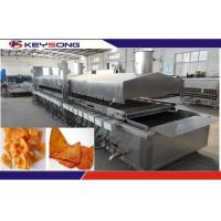Buy cheap Large Capacity Snacks Frying Machine , Commercial Deep Fryer Automatic Continuous Belt from wholesalers