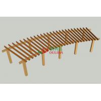 12m X 4m  Wood Plastic Composite Pergola DIY Moisture Resistance Highly Resistant To Termitesv