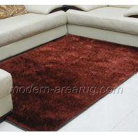 Buy cheap Brown With Silver Filament Polyester Silky Shaggy Rug Carpet, Home / Commercial Decorative Rugs from wholesalers