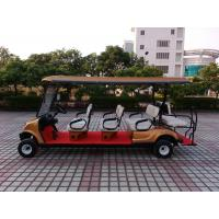 Buy cheap Golden Colour  Electric Golf Carts 8 Seater With Curtis Controller For Hotel Reasort from wholesalers