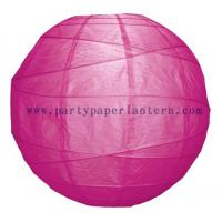 Buy cheap Beautiful Fuchsia Pink Round Party Paper Lantern 8 Inch Size Festival Theme from wholesalers