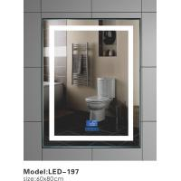 Buy cheap Modern Heated Touch Led Bathroom Mirror With Demister Vertical Temperature Displayed from wholesalers