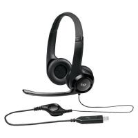 Buy cheap USB Wired Over The Head Headphones , Stereo Gaming Headphone Line Control Logitech H390 from wholesalers