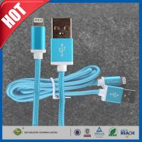 China Blue iPhone 6 Plus Charging Cord Ruggedized Braided Fabric Sync on sale