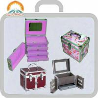 Buy cheap Beauty Boxes with Flannel Inner Interior, One Drawer and Upper Lid Mirror from wholesalers