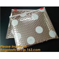 Buy cheap Factory Shiny Rose Gold Silver Cosmetic Zipper Bubble Bag Self Adhesive Plastic Pe Material Mailer Zip Lock Padded Bag, from wholesalers