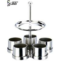 Buy cheap Two Tiers Stainless Steel Tableware Bar - Relish Dish Set With Five Jars For Nuts from wholesalers