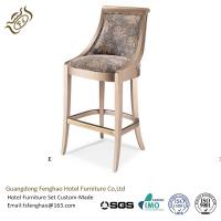 Buy cheap Contemporary Hotel Bar Stools Counter Wooden Swivel Bar Stools With Backs from wholesalers