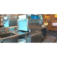 Buy cheap Low Noise Stationary Rack Dishwasher / Industrial Kitchen Dishwasher 60-75℃ Wash from wholesalers