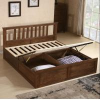 Buy cheap Rustic Cherry Solid Wood Twin Bed Frame , Antique Style Black Wood Bed Frame from wholesalers