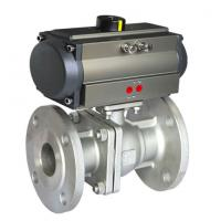 Buy cheap 304 316 Sanitary Stainless Steel Pneumatic Actuator Ball Valve from wholesalers
