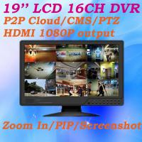 Buy cheap 16CH All in one DVR 19'' LCD Monitor 960H CCTV DVR P2P Cloud PTZ Control Video Surveillance DVR system from wholesalers