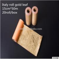 Buy cheap New Fashion Italy Roll Gold Leaf Used for Chinese Factory Home Designer Furniture Decor PVC Art from wholesalers