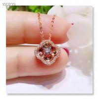 Buy cheap Engagement 18K Gold Jewelry , Diamond Round Cutting Wedding Pendant Necklace from wholesalers