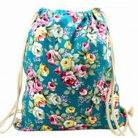 Buy cheap floral cotton canvas drawstring backpack from wholesalers