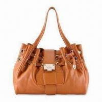 Buy cheap Fashionable Leather Handbag with Drawstring Closure and Gold Toned Hardware from wholesalers