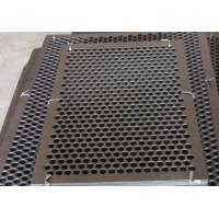 Buy cheap Round Hole Perforated Steel Sheet , Q235 Steel Galvanised Perforated Sheet product