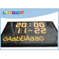 Buy cheap Swedish Language Text Sign Led Electronic Scoreboard with Computer Software Controller from wholesalers
